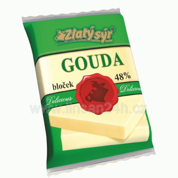 Zlatý Sýr Gouda 48% bloček 250g (HDB_20n)